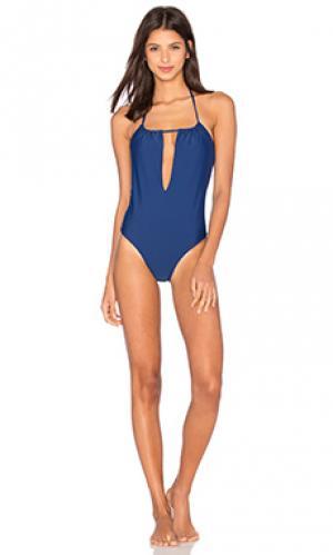 Слитный купальник surry Salt Swimwear. Цвет: синий