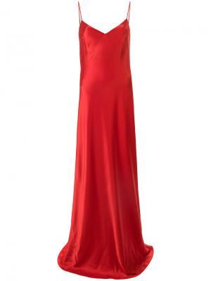 V-neck slip dress Galvan. Цвет: красный