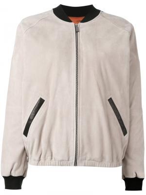 Куртка-бомбер Barbara Bui. Цвет: телесный