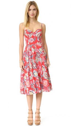 Платье Prima Donna Yumi Kim. Цвет: цветочный рисунок в стиле 70-х годов