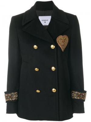 Двубортный пиджак милитари Dondup. Цвет: чёрный
