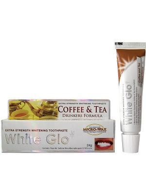 Зубная паста отбеливающая для любителей кофе и чая White Glo. Цвет: белый