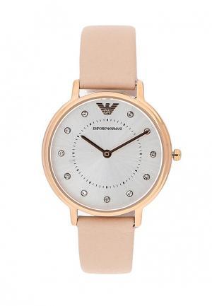 Часы Emporio Armani. Цвет: розовый