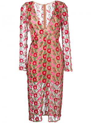 Платье Amelia For Love And Lemons. Цвет: многоцветный