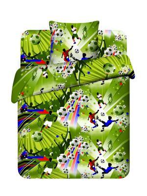 Комплект постельного белья Василек. Цвет: зеленый