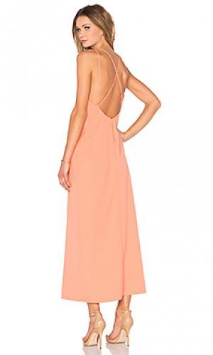 Макси платье will you NBD. Цвет: оранжевый
