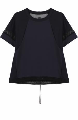 Спортивная футболка с прозрачными вставками Ultracor. Цвет: черный