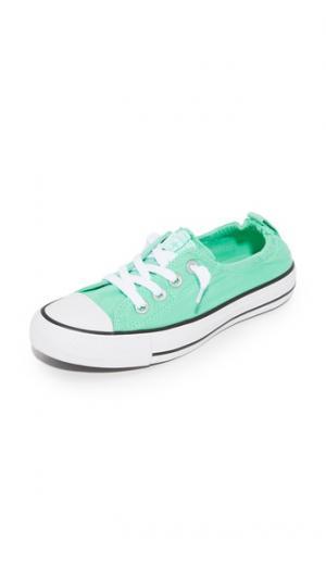 Кроссовки без шнурков Chuck Taylor All Star Shoreline Converse. Цвет: зеленое сияние/белый/черный