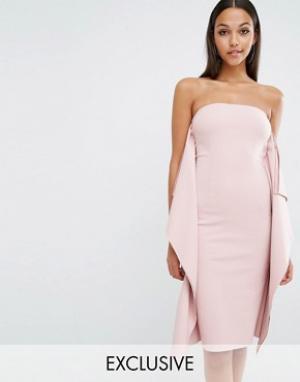 AQ Платье длиной до колен AQ/AQ Ultran. Цвет: розовый