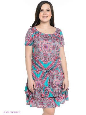 Платье Finn Flare. Цвет: красный, бирюзовый, фиолетовый