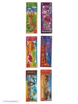Комплект  Пазлы MINI №4 ( 6 видов) Издательство Хатбер-пресс. Цвет: белый