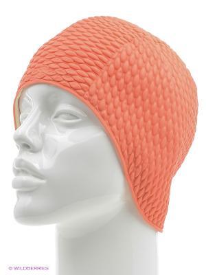 Шапочка плавательная Бабл-кап Larsen. Цвет: оранжевый
