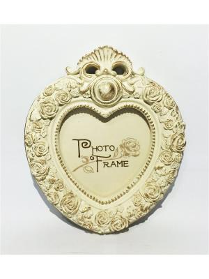 Фоторамка декоративная Ажурное сердце Magic Home. Цвет: кремовый