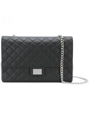 Quilted crossbody bag Designinverso. Цвет: чёрный