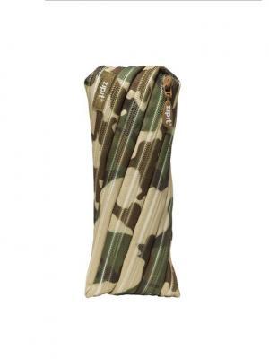 Пенал-сумочка CAMO POUCH, цвет хаки камуфляж ZIPIT. Цвет: зеленый