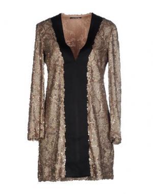 Короткое платье NINEMINUTES. Цвет: голубиный серый