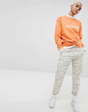 Carhartt Свободные брюки с камуфляжным принтом WIP. Цвет: мульти