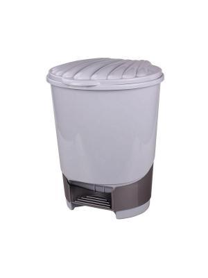 Ведро для мусора с педалью 10л. (серый) Альтернатива. Цвет: серый