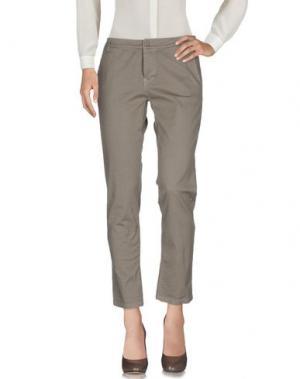 Повседневные брюки ANDREA MORANDO. Цвет: хаки