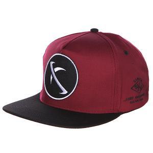 Бейсболка с прямым козырьком  P-neg Drd Lost. Цвет: бордовый,черный