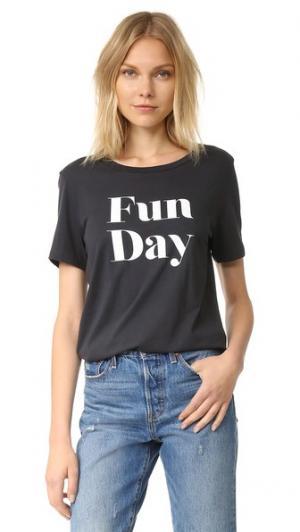 Футболка Fun Day South Parade. Цвет: дымчато-черный