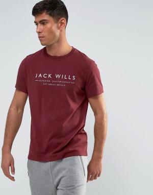 Jack Wills Футболка Westmore. Цвет: красный