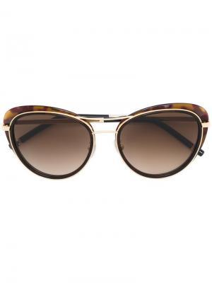 Солнцезащитные очки с оправой кошачий глаз Boucheron. Цвет: коричневый