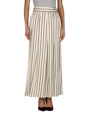 Длинная юбка INNAMORATO. Цвет: слоновая кость