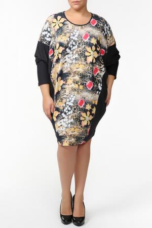 Платье QNEEL Q'NEEL. Цвет: черный, желтый