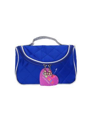 Косметичка - сумочка Синяя EL CASA. Цвет: синий