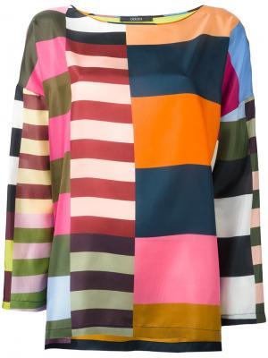 Блузка в полоску Odeeh. Цвет: жёлтый и оранжевый