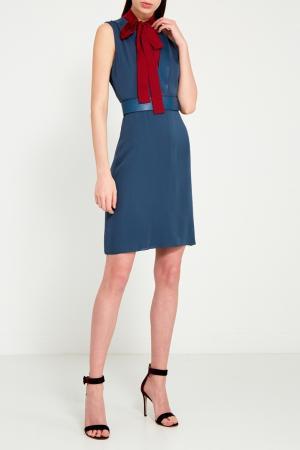 Платье с цветной вставкой Gucci. Цвет: multicolor