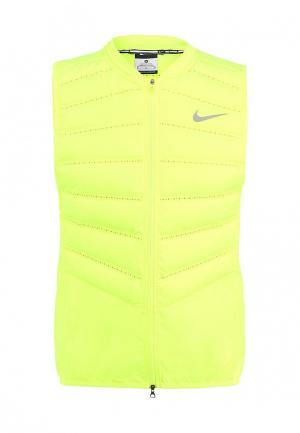 Жилет утепленный Nike. Цвет: желтый