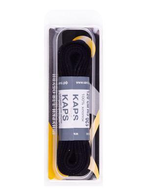 Шнурки плоские 120 см KAPS. Цвет: черный