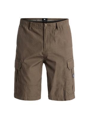 Бермуды DC Shoes. Цвет: коричневый