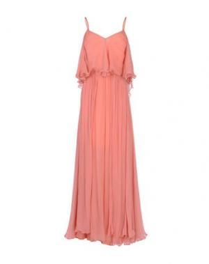 Длинное платье MES DEMOISELLES. Цвет: лососево-розовый