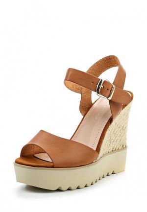 Босоножки Ideal Shoes. Цвет: коричневый