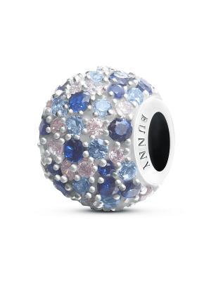 Шарм Монталь BUNNY. Цвет: темно-синий, голубой, серебристый