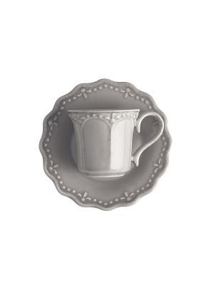 Набор чайных пар CROWNE H&H. Цвет: серый