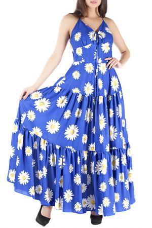 Платье Mannon. Цвет: синий