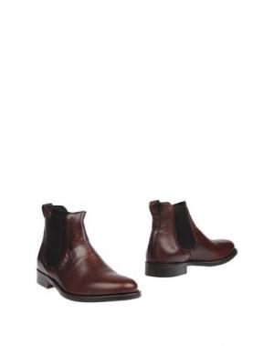 Полусапоги и высокие ботинки BRIAN DALES. Цвет: какао