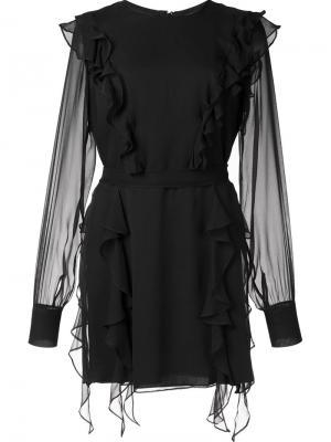 Шелковое платье Love Thomas Wylde. Цвет: чёрный