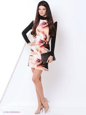 Платье Hammond. Цвет: кремовый, бледно-розовый, персиковый