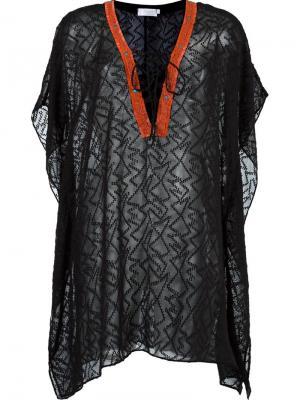 Прозрачное пляжное платье Brigitte. Цвет: чёрный