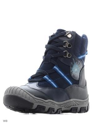 Ботинки ортопедические ORTHOBOOM. Цвет: темно-синий, голубой, синий