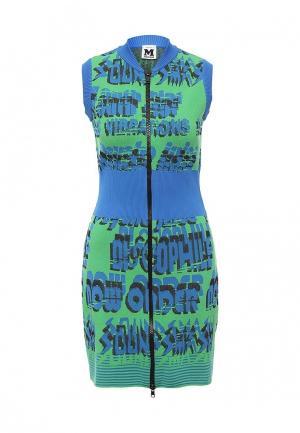 Платье M Missoni. Цвет: зеленый