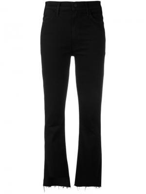 Расклешенные джинсы с необработанными краями Mother. Цвет: чёрный