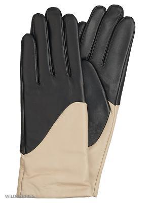 Перчатки женские с эффектом Touch Screen Marco Bonne`. Цвет: черный, бежевый