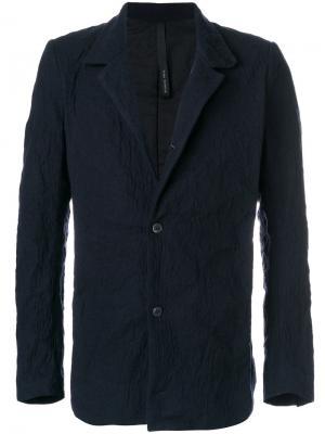 Однобортная куртка Poème Bohémien. Цвет: синий
