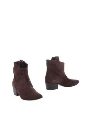 Полусапоги и высокие ботинки KALLISTÈ. Цвет: какао
